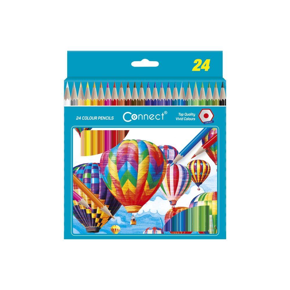 Színes ceruza hatszögletű CONNECT 24db-os készlet,