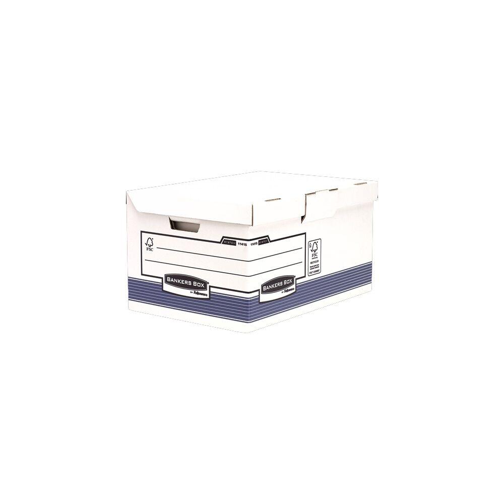Archiváló konténer csapófedéllel , BANKERS BOX SYSTEM BY FELLOWES, 10 db/csomag, kék