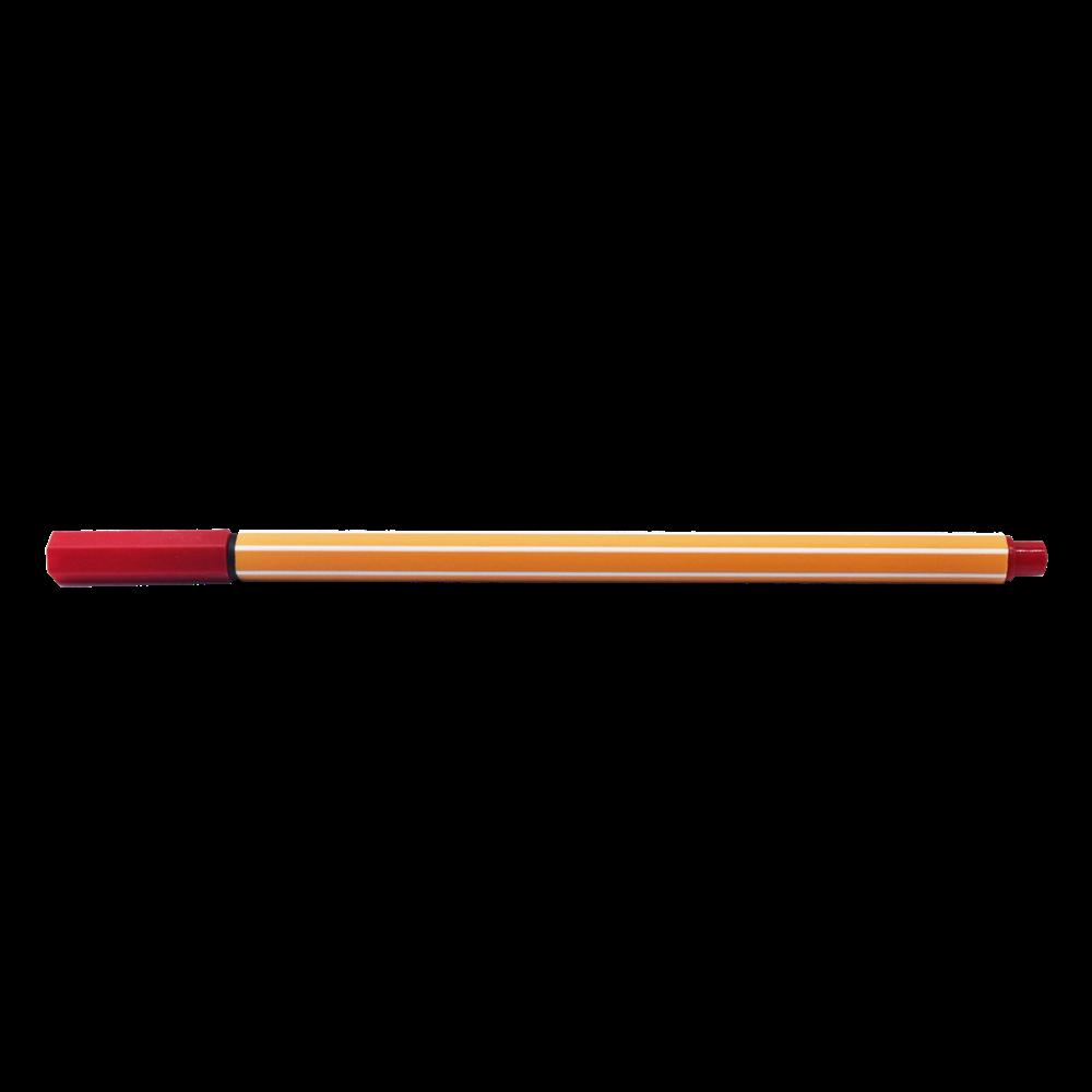 Rostirón tűfilc 0,5mm  hatszögletű test, vízbázisú BLUERING piros