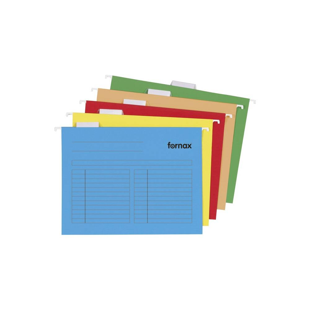 Függőmappa oldalzárt Fornax 33-V oldalzárt sárga