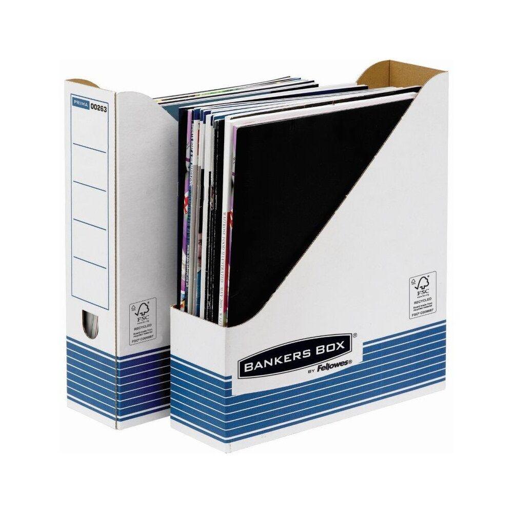 Iratpapucs, karton, 80 mm, BANKERS BOX SYSTEM by FELLOWES, 10 db/csomag, kék