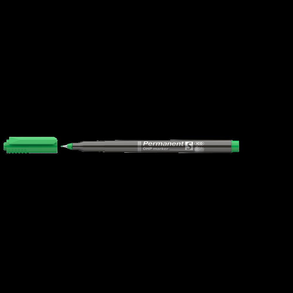Permanent marker OHP S ICO zöld