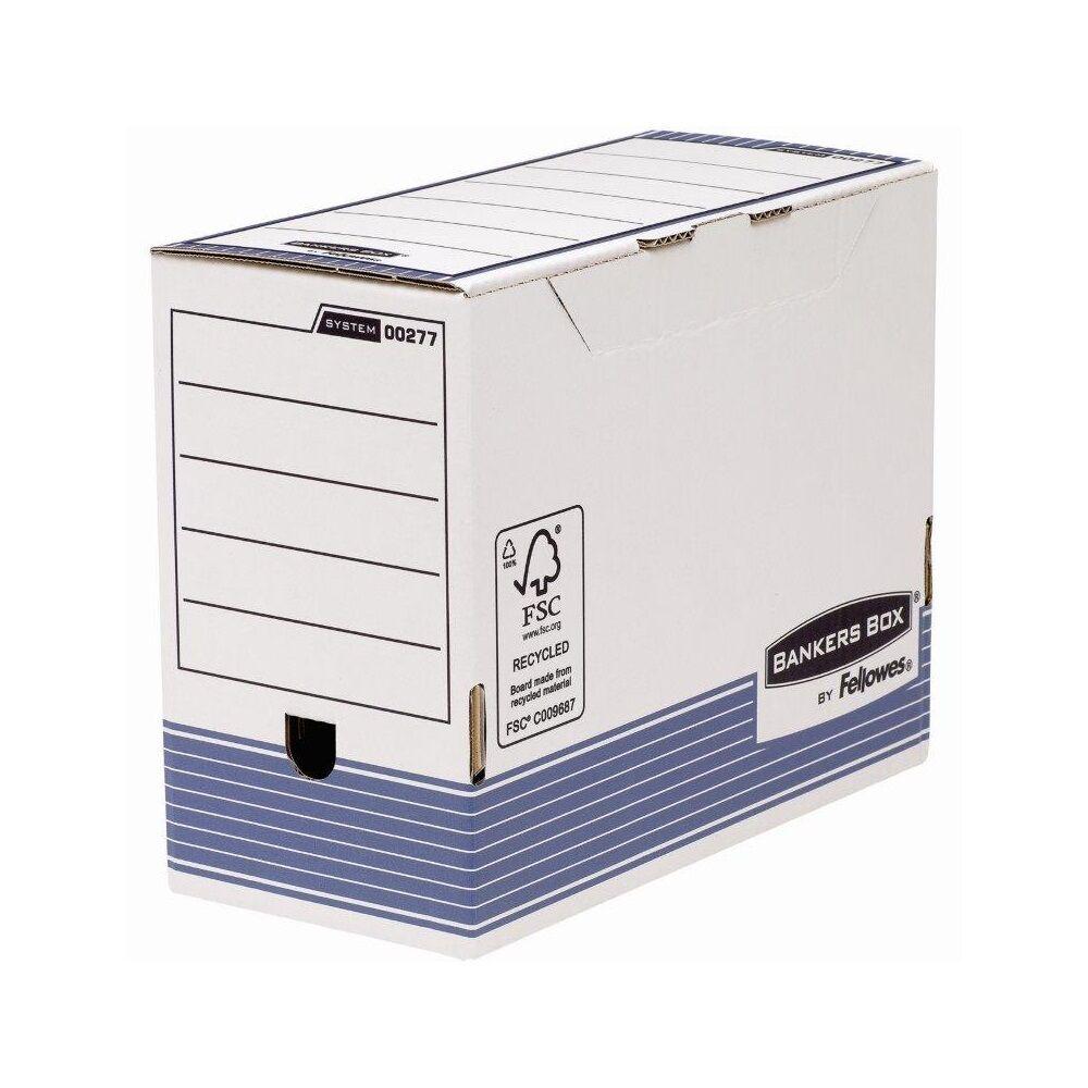 Archiváló doboz 150 mm, FELLOWES Bankers Box System, 10 db/csomag, kék