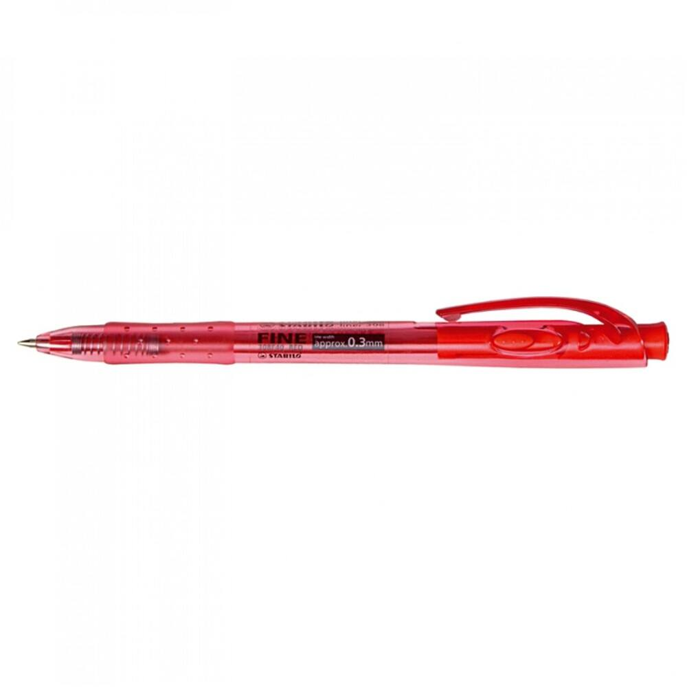 Golyóstoll 0,38mm F STABILO LINER 308/40 piros