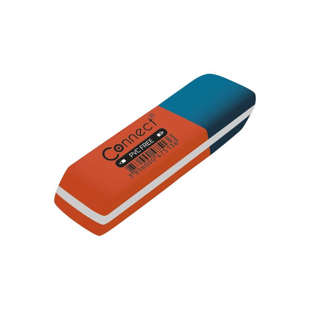Radír CONNECT piros/kék C-36BR, 36db/ kínáló doboz
