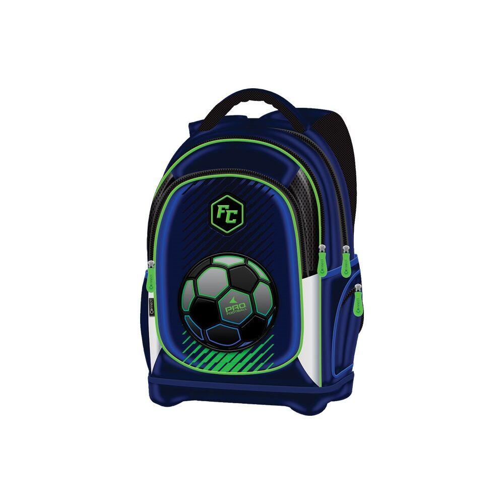 Iskolatáska anatómiai Connect 2021 FOOTBALL kék zöld