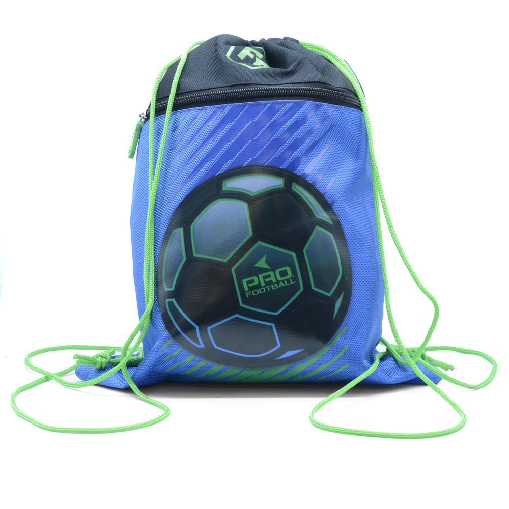 Tornazsák CONNECT 2021 FOOTBALL  kék zöld  29x39x2cm