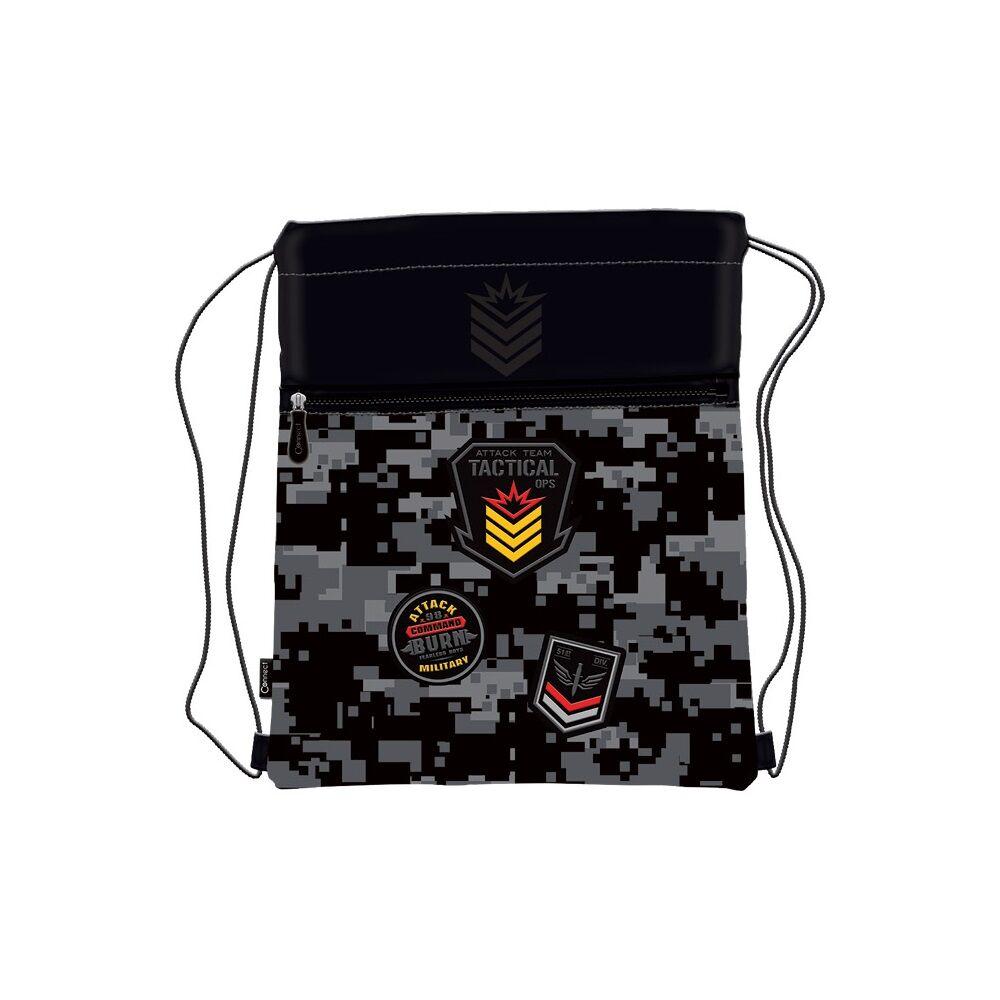 Tornazsák CONNECT 2021 ARMY  fekete szürke 29x39x2cm