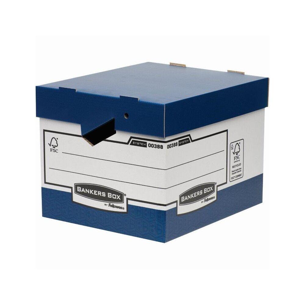 Archiváló konténer, karton, ergonomikus fogantyúkkal FELLOWES Bankers Box 10 db/csomag,