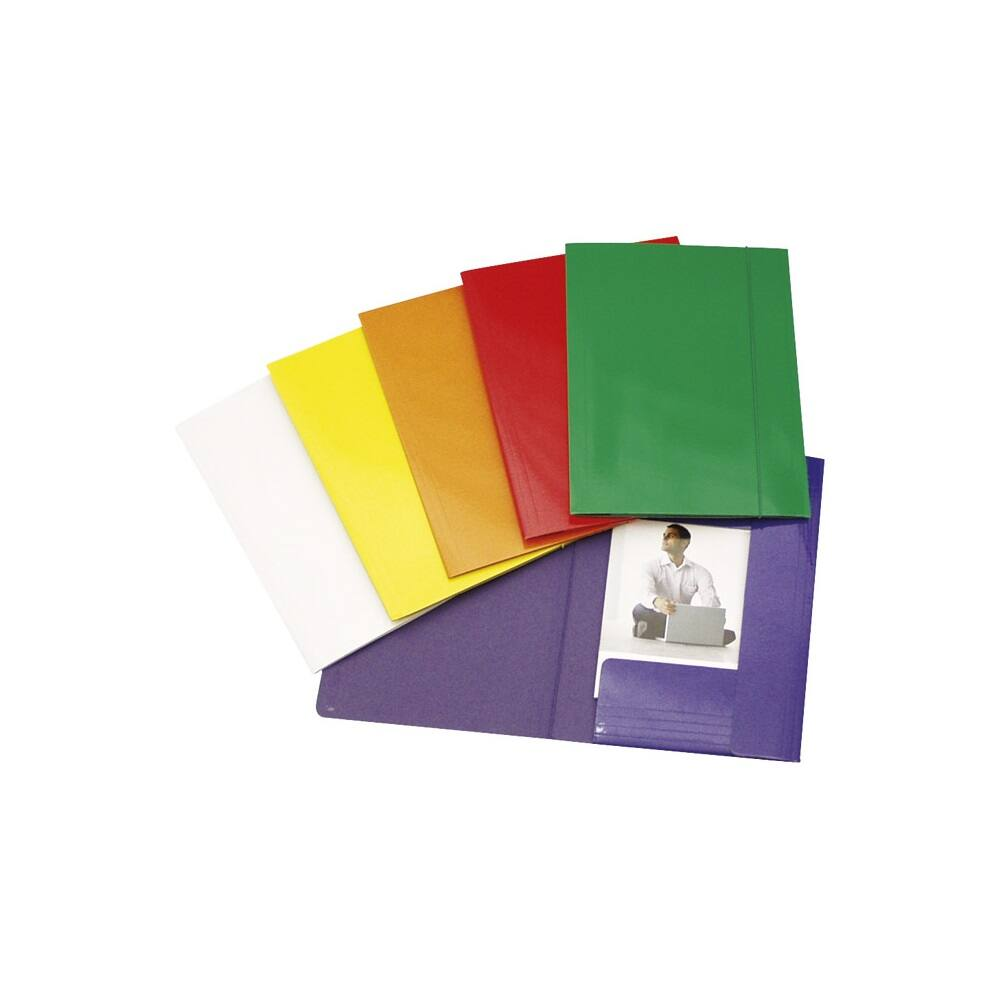 Gumis mappa FORNAX Glossy karton A/4-FC 600 gr sárga