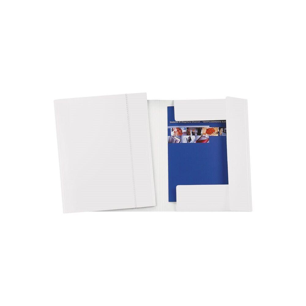 Gumis mappa FORNAX Glossy karton A/4-FC 600 gr fehér