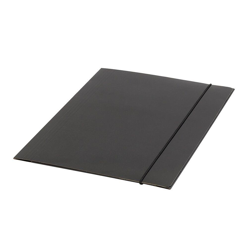 Gumis mappa FORNAX Glossy karton A/4 400 gr fekete