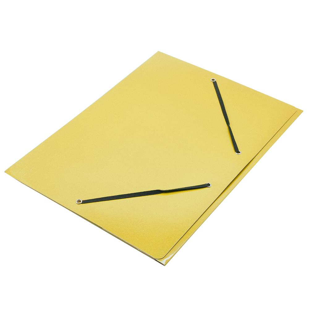 Gumis mappa FORNAX Glossy karton A/4 400 g sárga