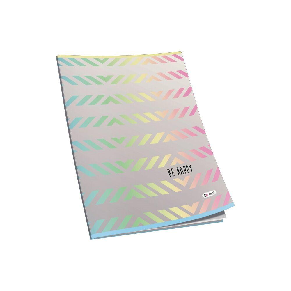 Füzet glitteres CONNECT A/5, 40 lap, 80gr papír, kockás