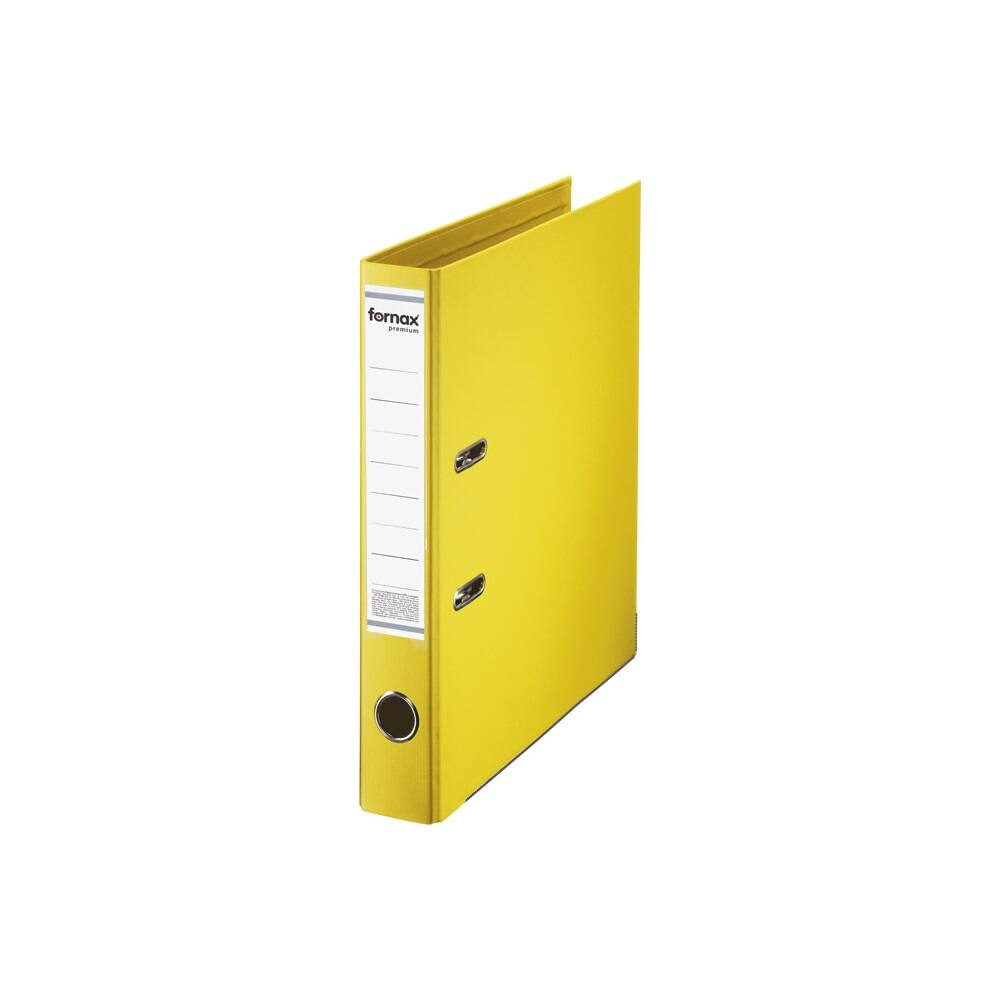 Iratrendező A4, 5,5 cm, FORNAX Master sárga