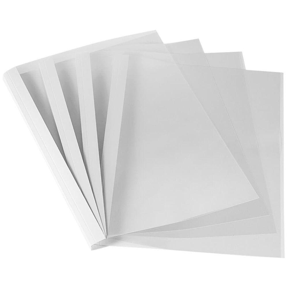 Hőkötőborító, 8 mm, 61-80 lap, A4, FELLOWES Standard, 100 db/csomag, fehér