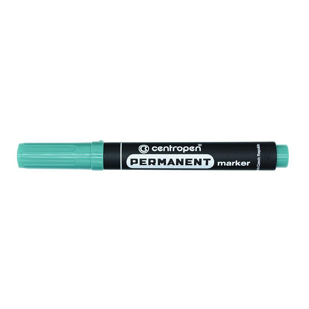 Permanent marker CENTROPEN 8566 kerek végű, 2,5mm, zöld