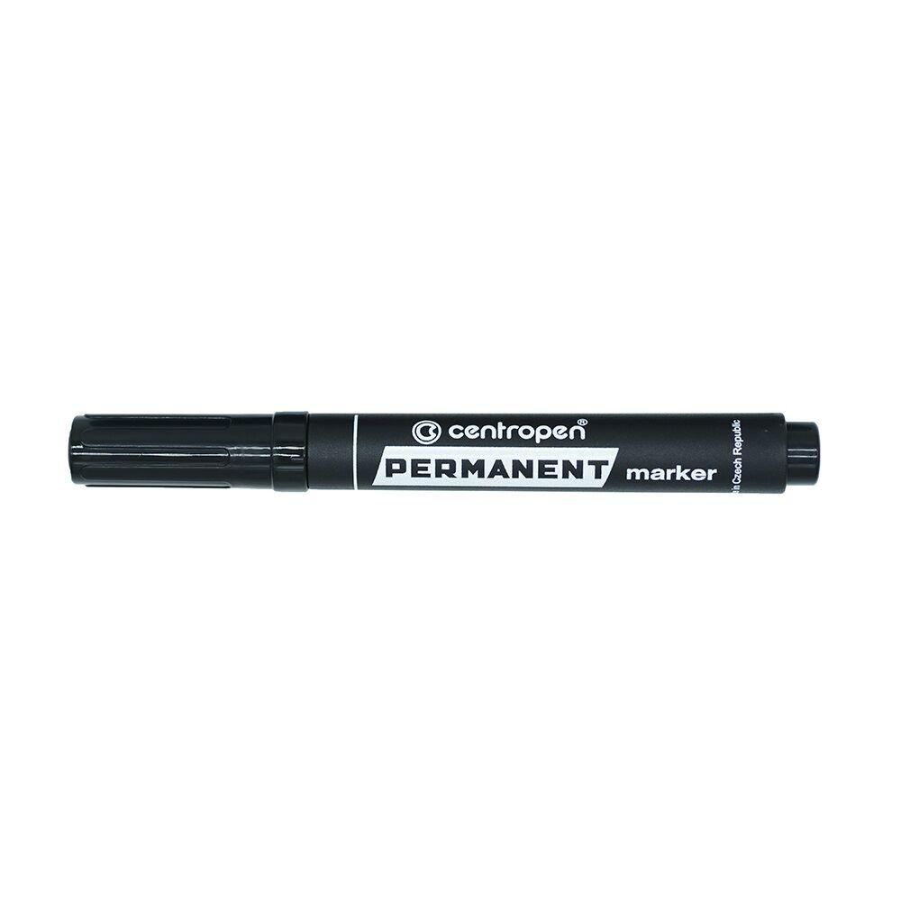 Permanent marker CENTROPEN 8576 vágott végű, 1-4,6 mm, fekete