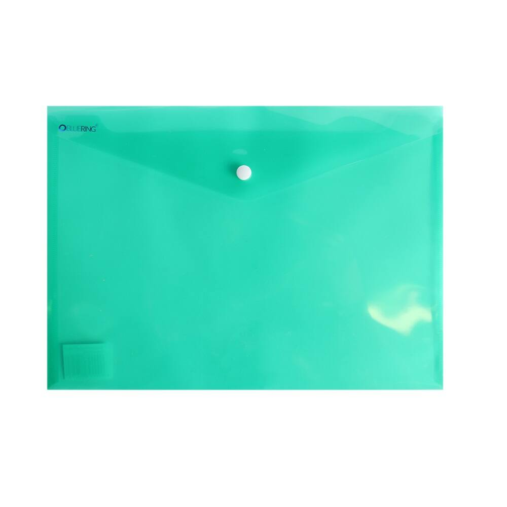 Irattartó tasak A4 PP patentos transzparens zöld  12 db /csomag  BLUERING