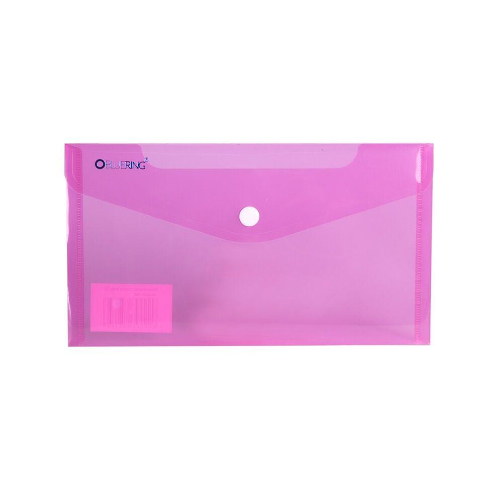 Irattartó tasak DL `CSEKK` patentos PP transzparens piros 12 db /csomag BLUERING