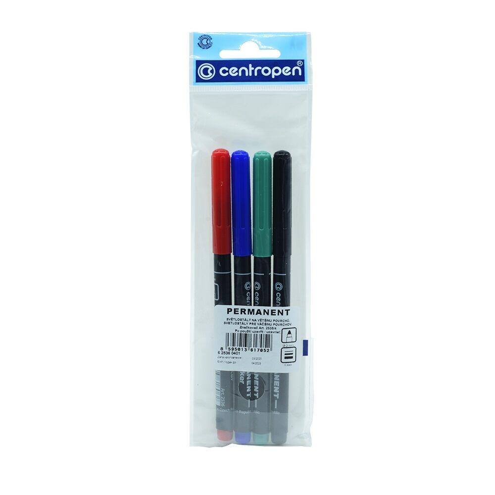 Permanent marker kerek 1mm  CENTROPEN 2536 4db-os készlet