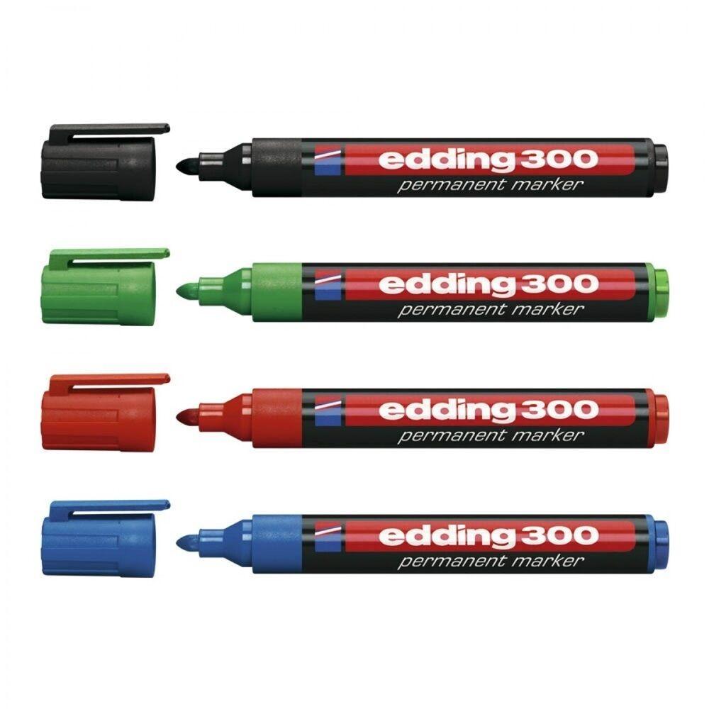 Permanent marker 1,5-3mm kerek EDDING 300 4 klf.szín