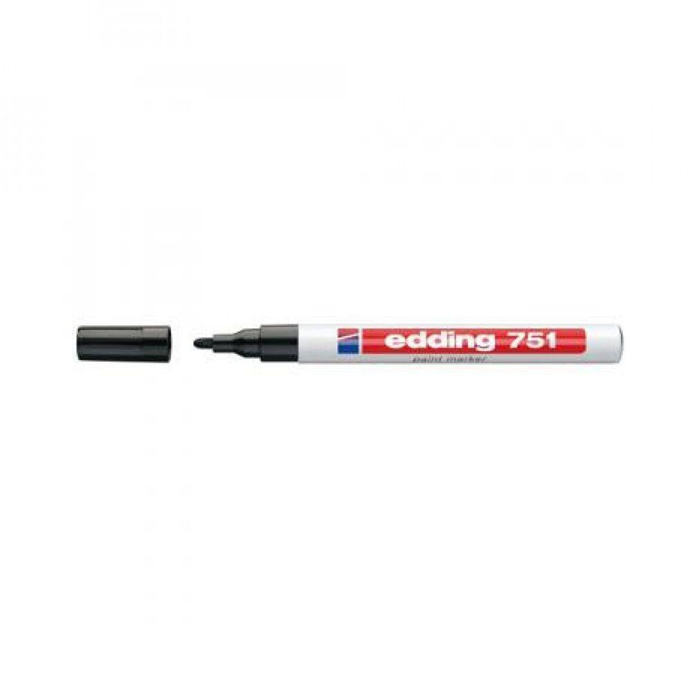 Lakkmarker 1-2mm kerek EDDING 751 fekete