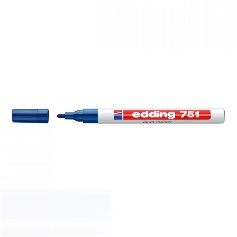 Lakkmarker 1-2mm kerek EDDING 751 kék
