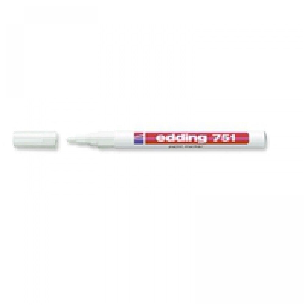 Lakkmarker 1-2mm kerek EDDING 751 fehér