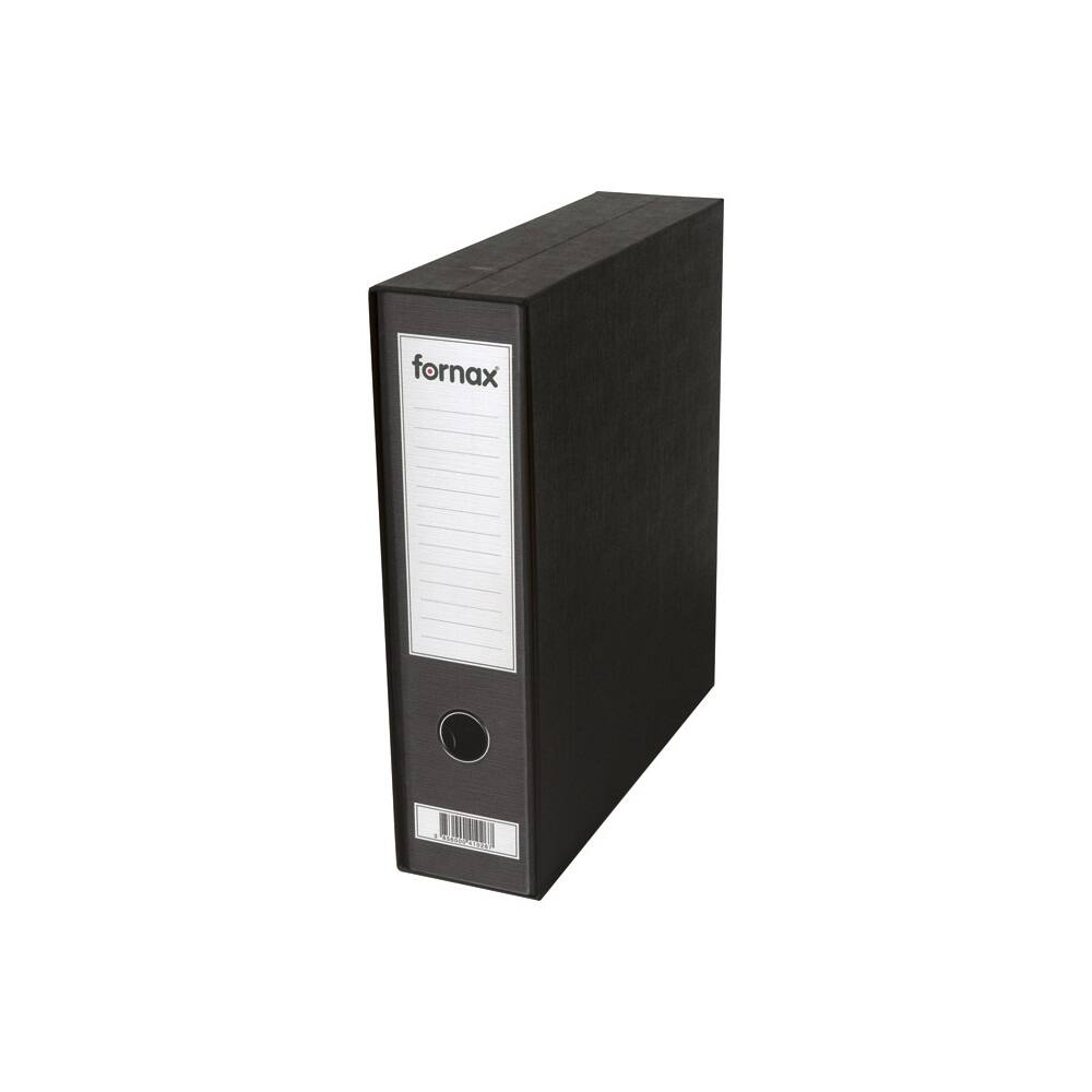 Tokos iratrendező A4, 8 cm, FORNAX Prestige fekete