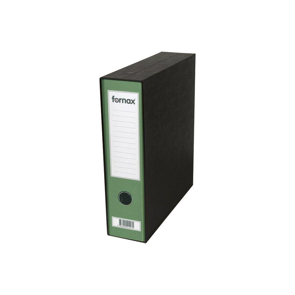 Tokos iratrendező A4, 8 cm, FORNAX Prestige zöld