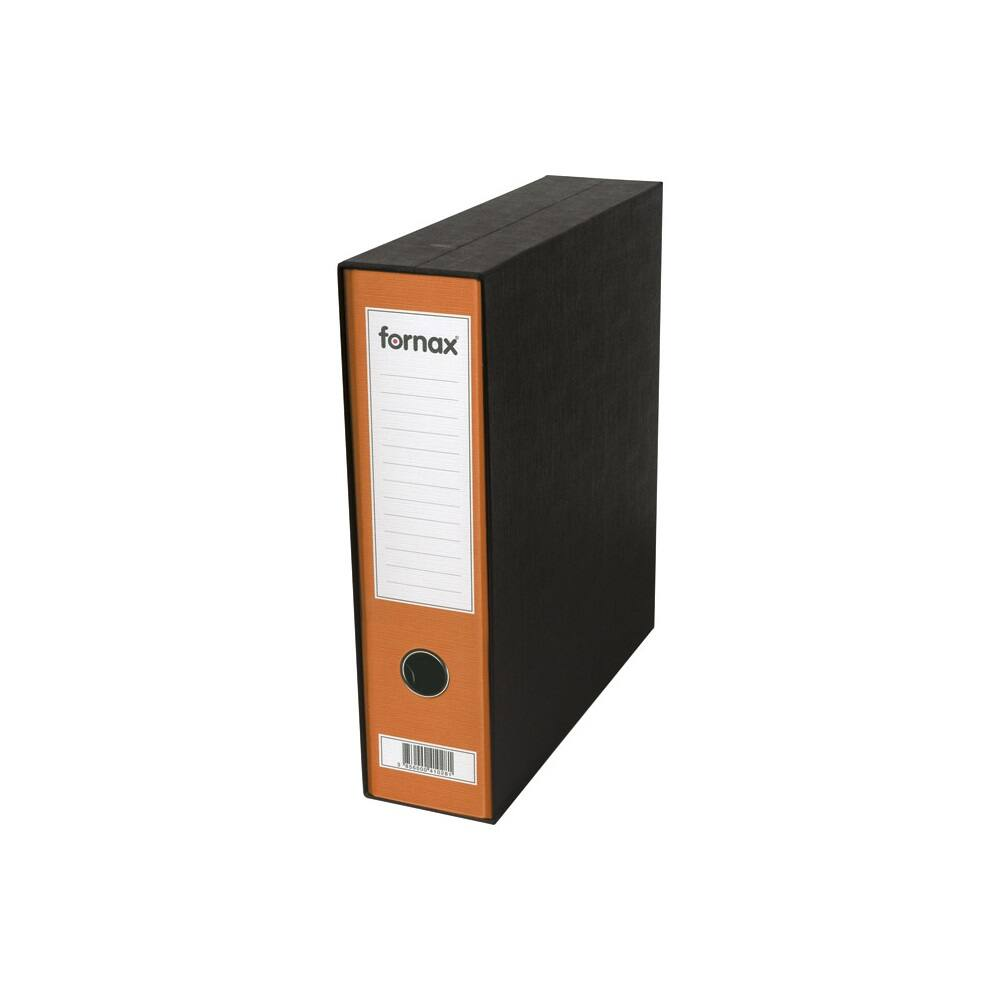 Tokos iratrendező A4, 8 cm, FORNAX Prestige narancssárga