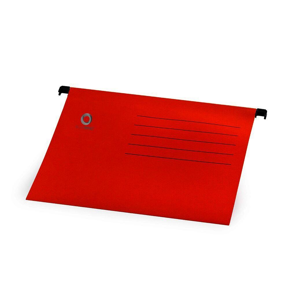 Függőmappa A4 karton piros