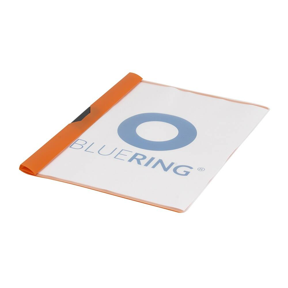 Gyorsfűző klip mappa A4 műanyag 60 laphoz fém klippes narancssárga BLUERING