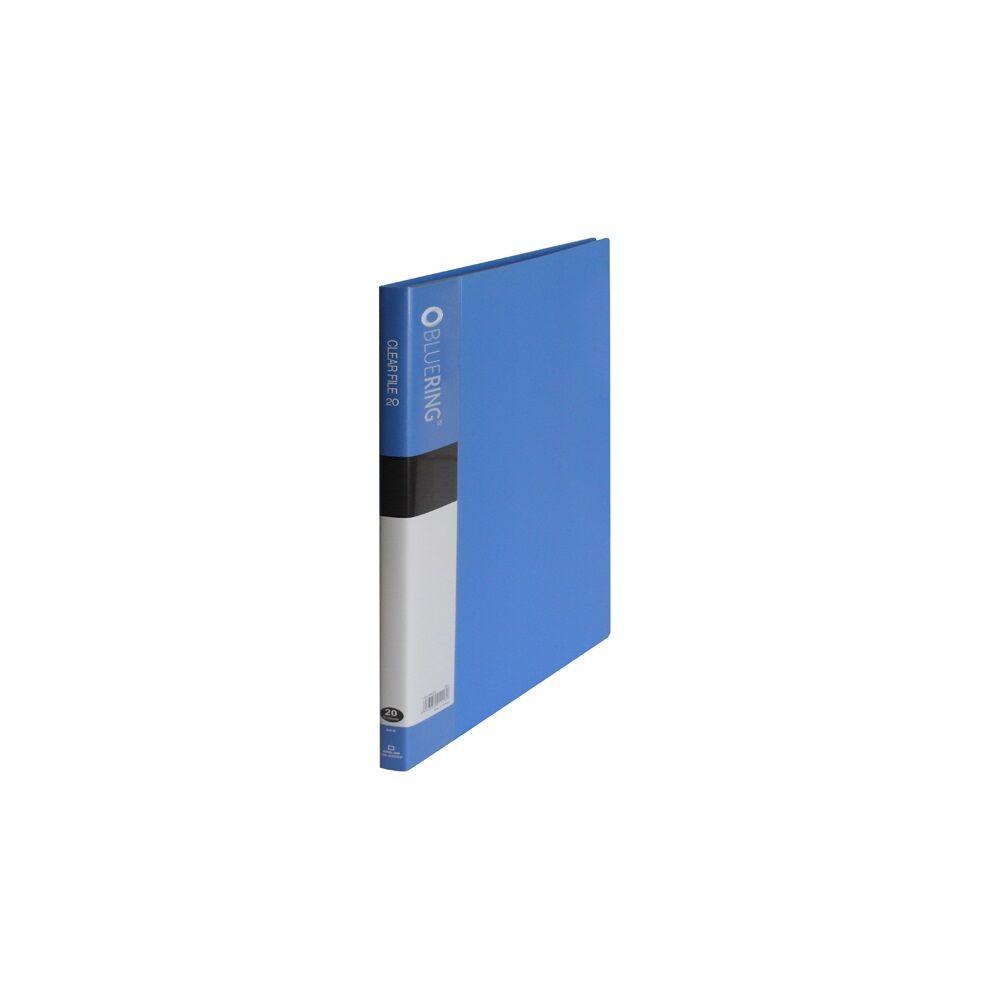 Iratvédő mappa A4 20 tasakos kék BLUERING