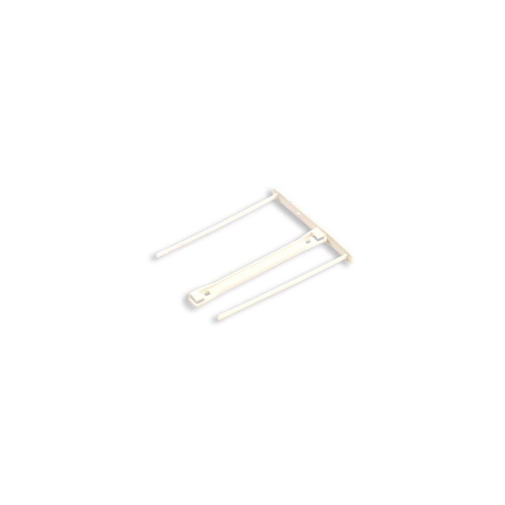 Lefűzőklip, műanyag, 100 mm, FELLOWES, Bankers Box Pro, 100 db/csomag, fehér