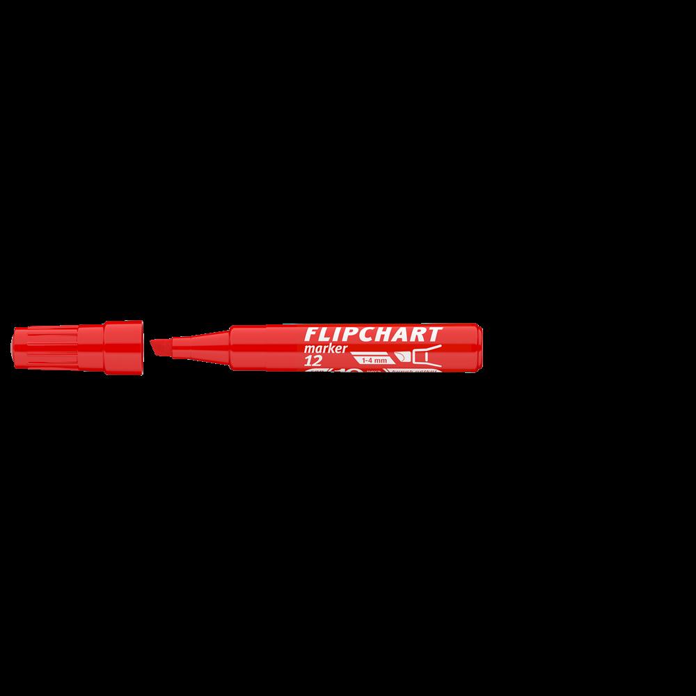 Flipchart marker vízbázisú 1-4mm vágott ARTIP 12 piros