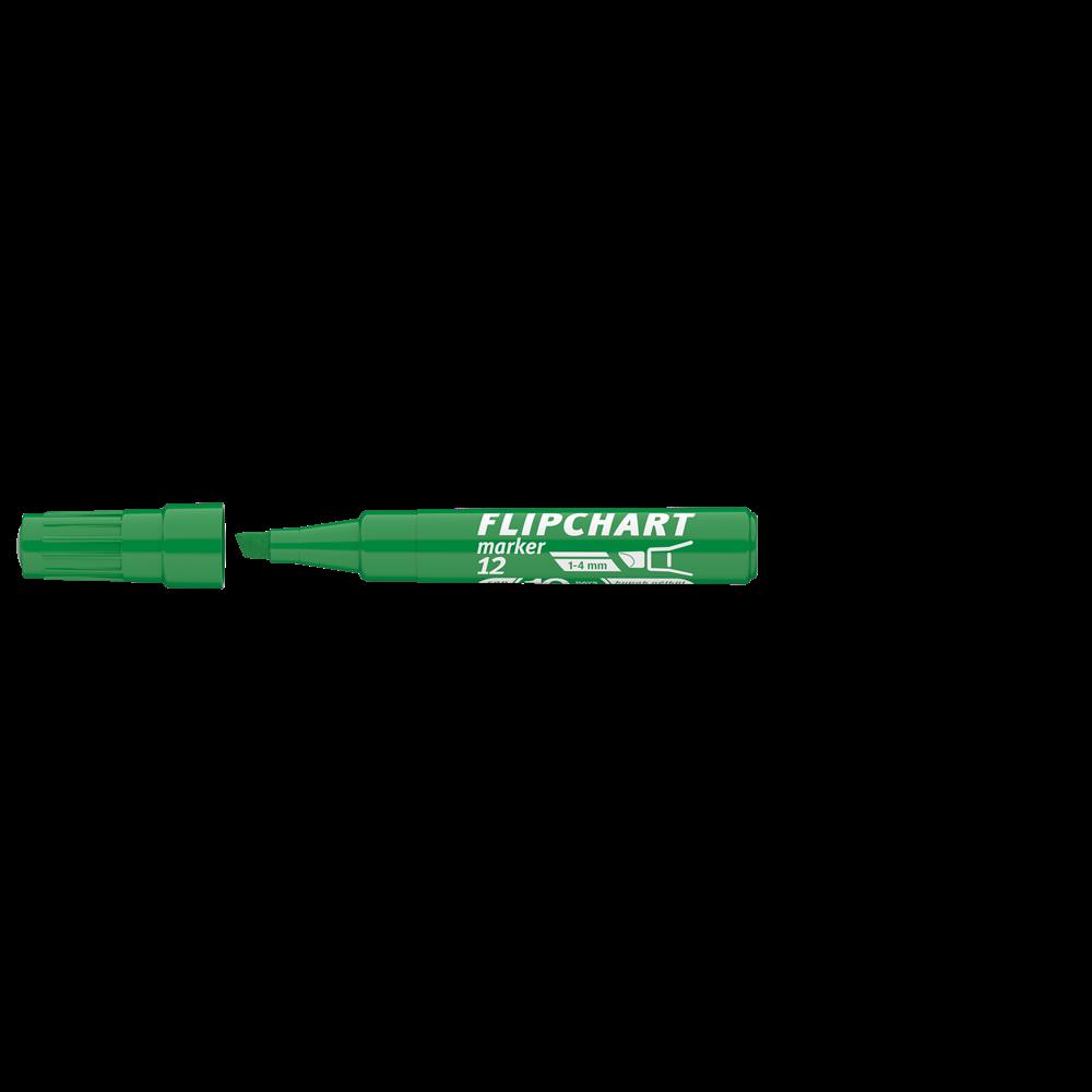 Flipchart marker vízbázisú 1-4mm vágott ARTIP 12 zöld