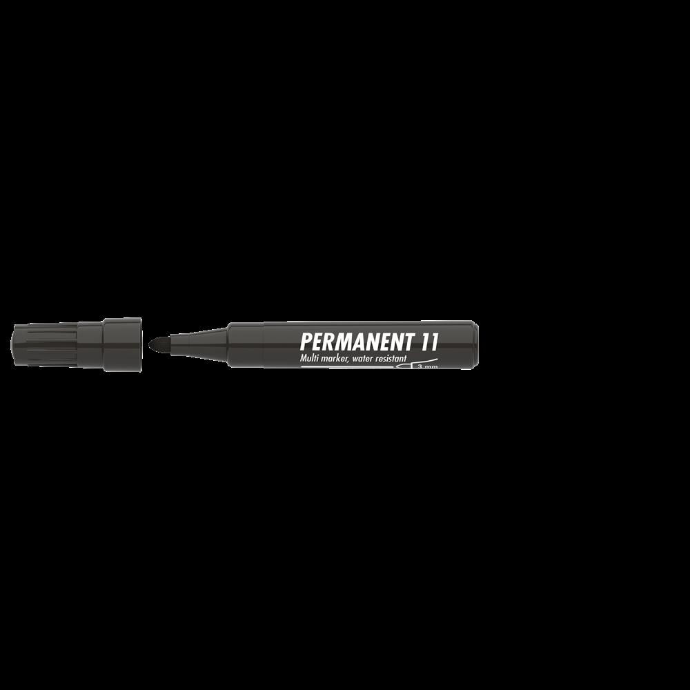 Permanent marker 3mm kerek ICO 11 fekete