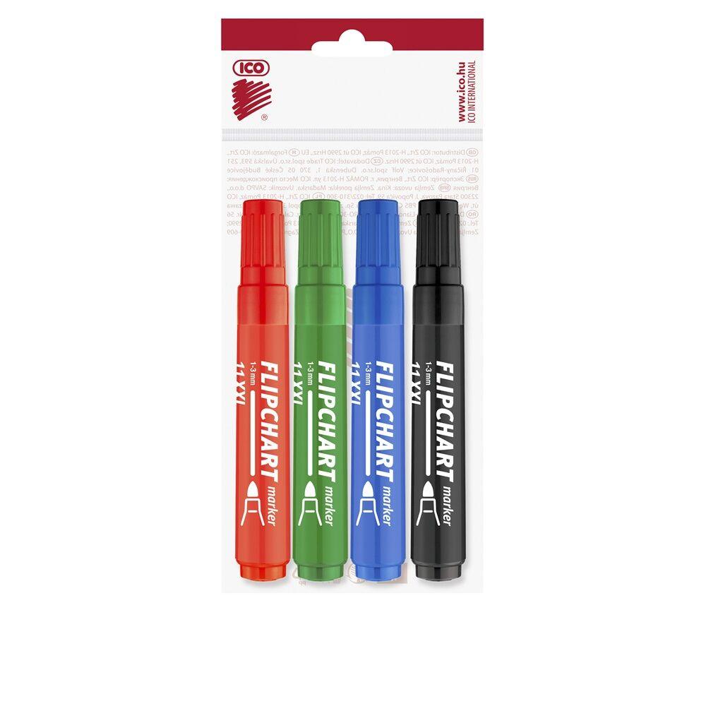 Flipchart marker vízbázisú 3mm kerek ARTIP 11XXL 4 klf.szín