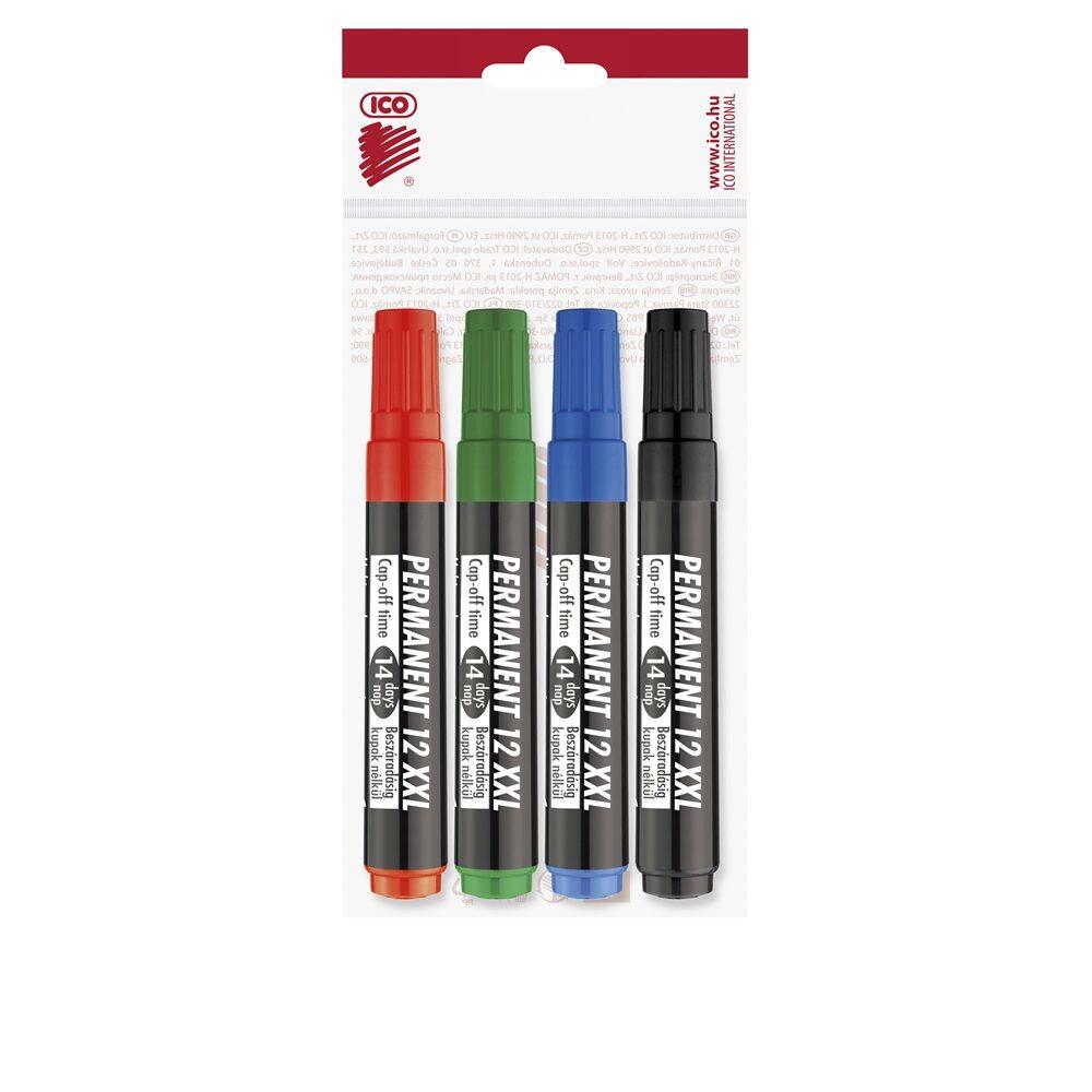 Permanent marker 1-4mm vágott ICO 12XXL 4 klf.szín