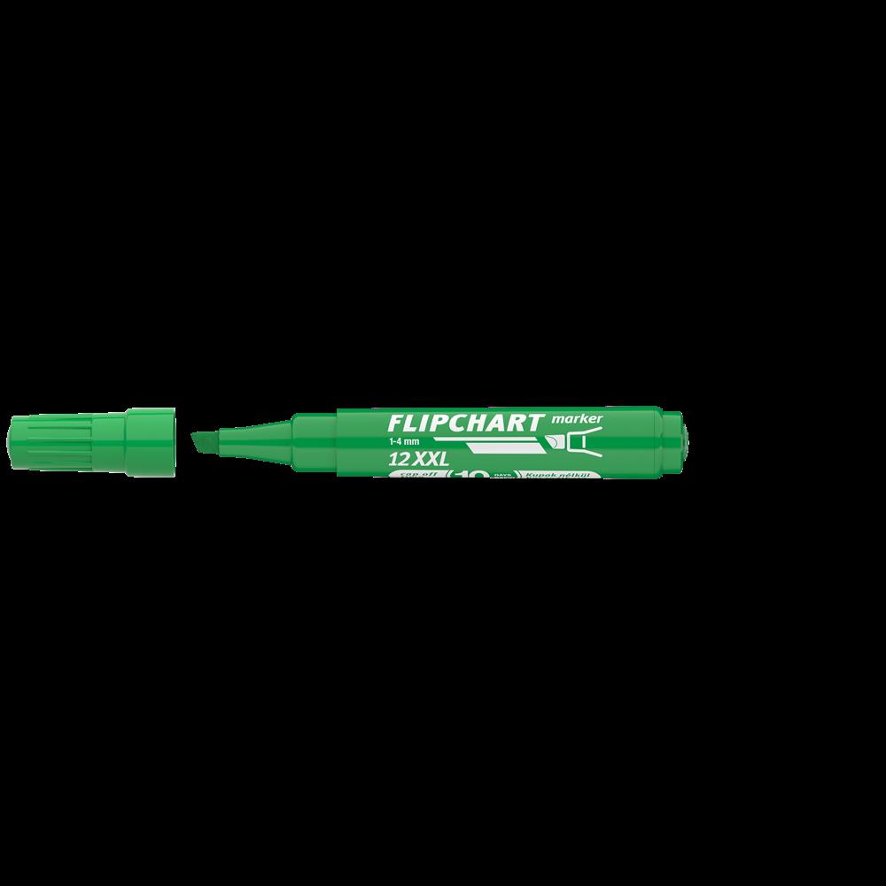 Flipchart marker vízbázisú 1-4mm vágott ARTIP 12XXL zöld