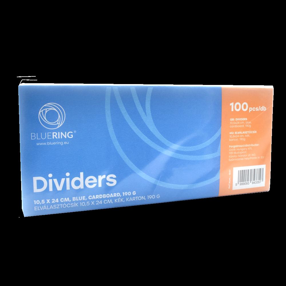 Elválasztócsík karton 190gr. 10,5x24 cm kék 100 db