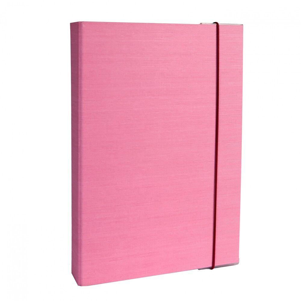 Füzetbox A4 pink BLUERING