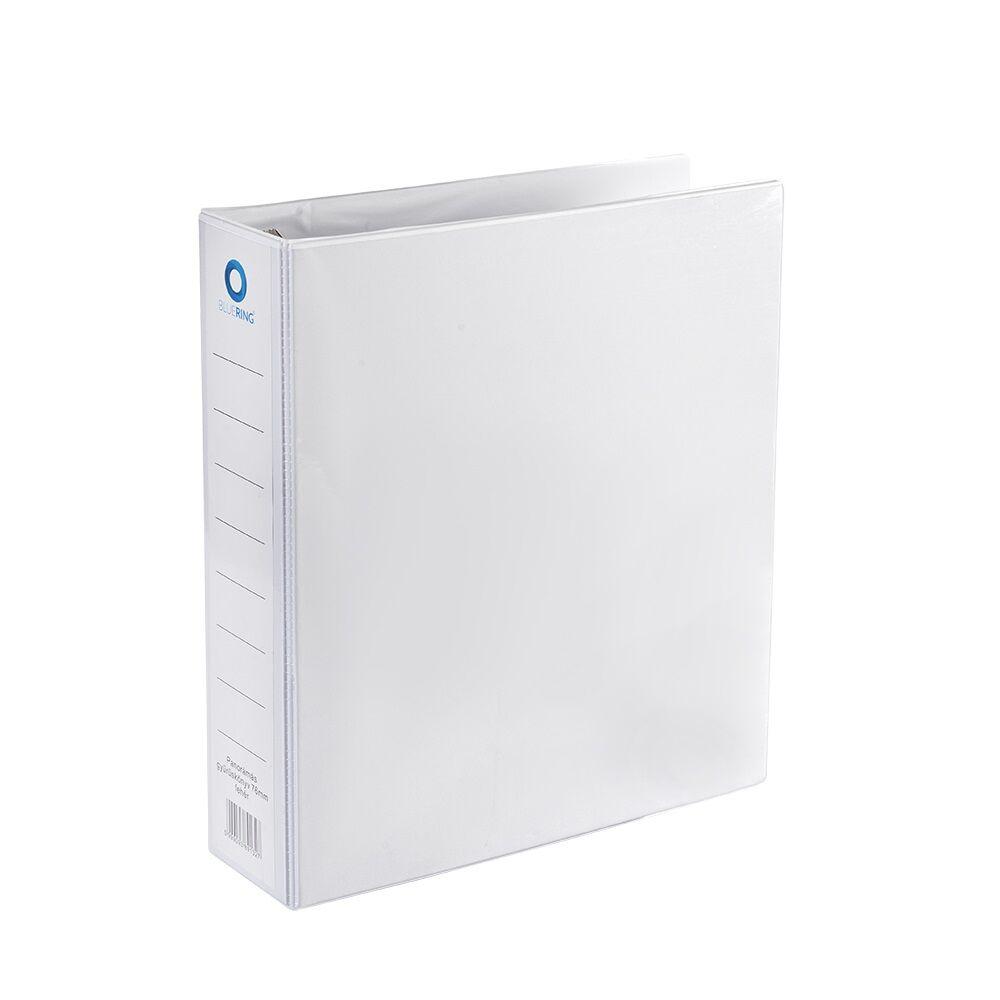 Panorámás gyűrűskönyv A4 7,6 cm 4 gyűrűs BLUERING fehér