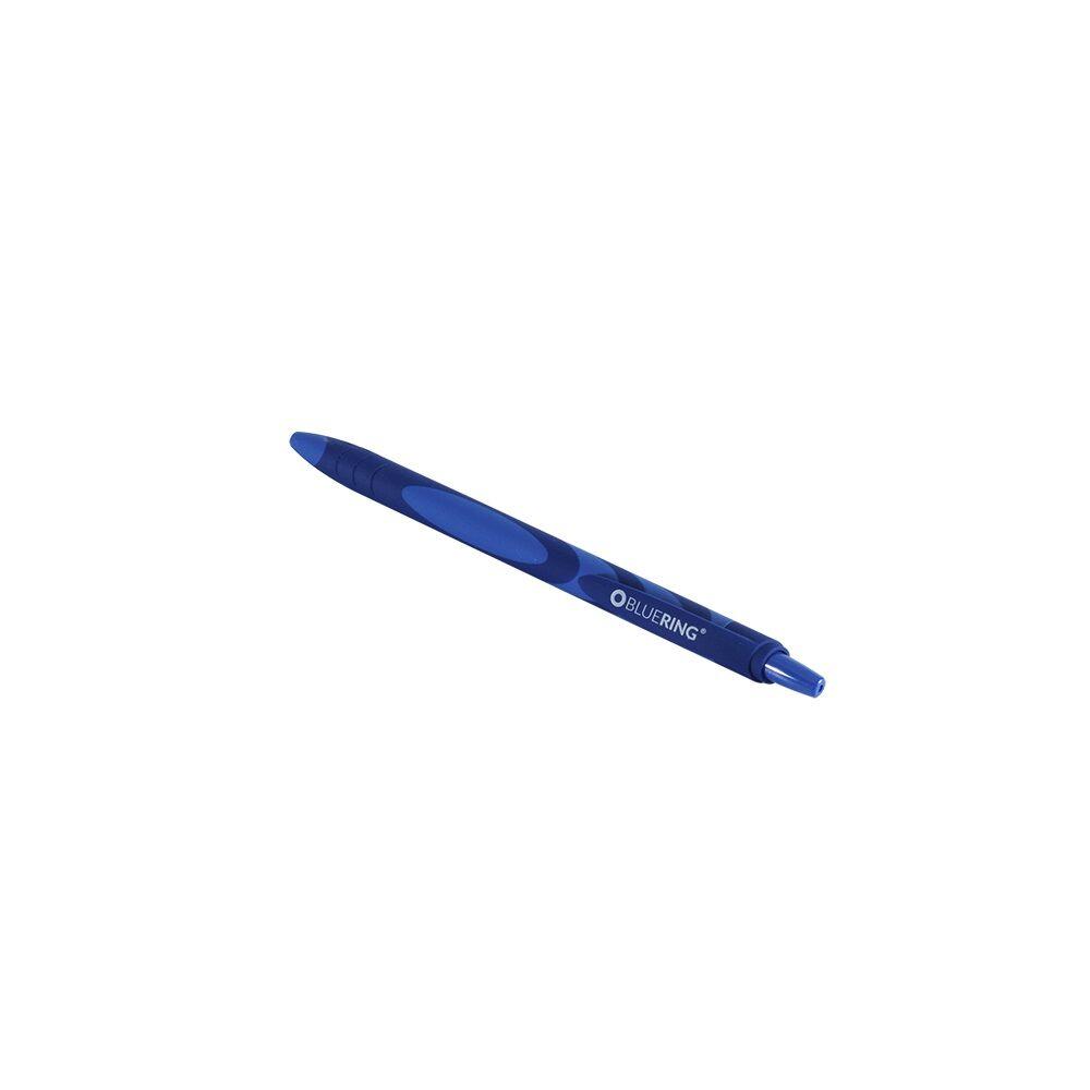 Golyóstoll nyomógombos gumírozott kék test, BLUERING F20 kék