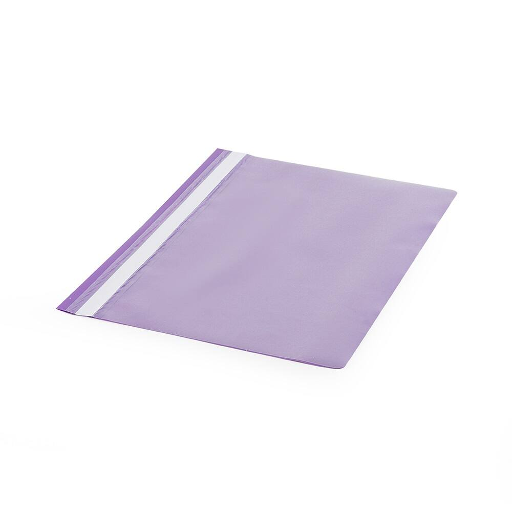 Gyorsfűző műanyag PP A4 lila darabos