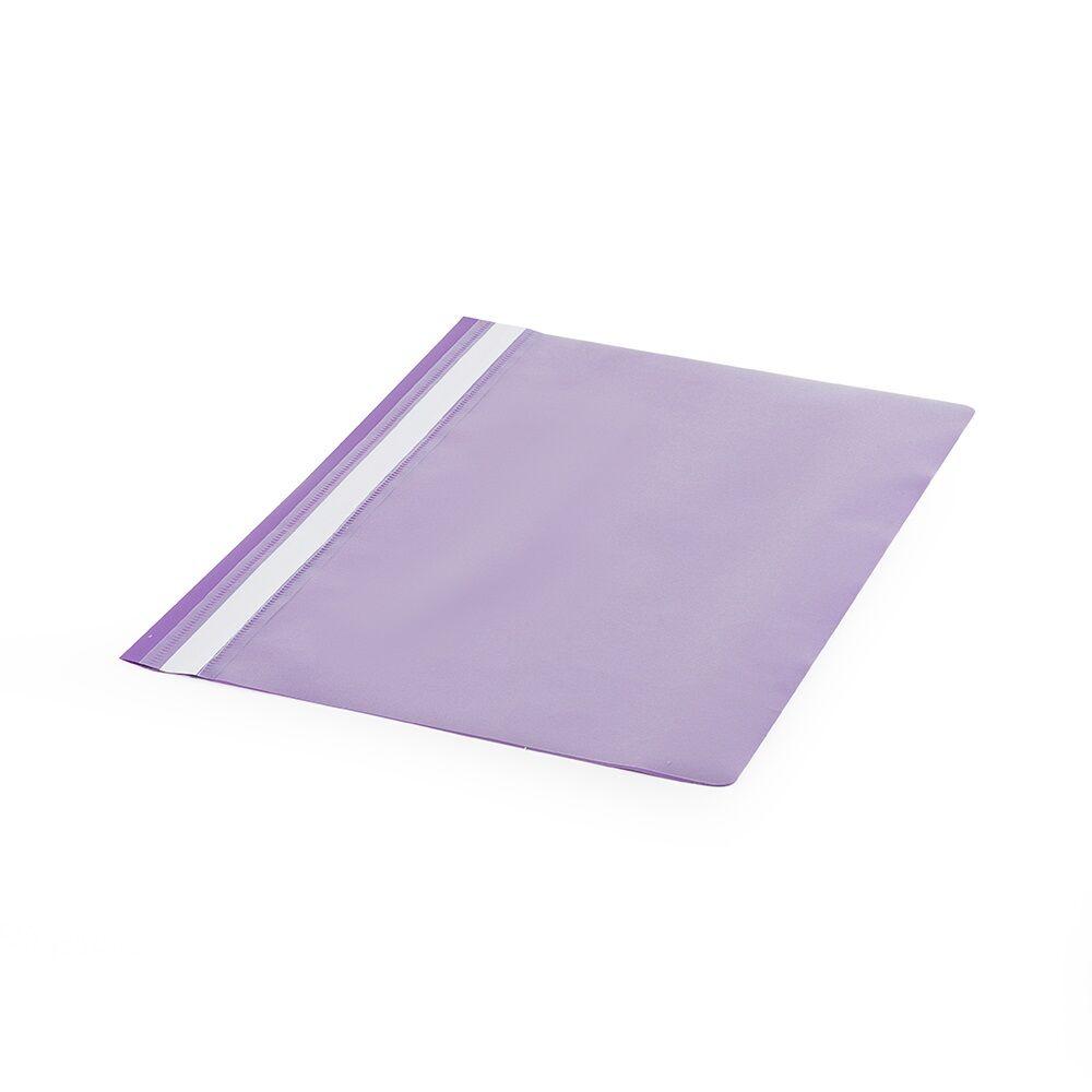 Gyorsfűző műanyag PP A4 lila darabos Bluering