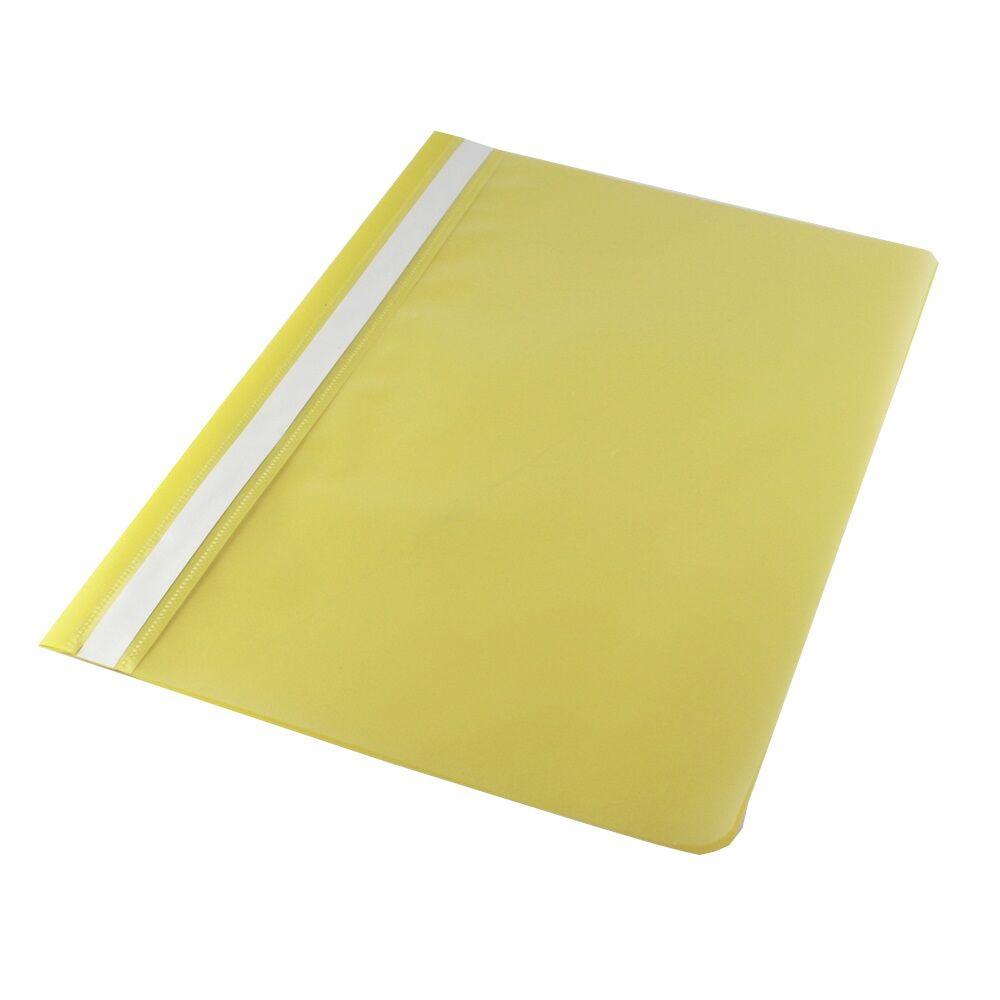 Gyorsfűző műanyag PP A4 sárga darabos