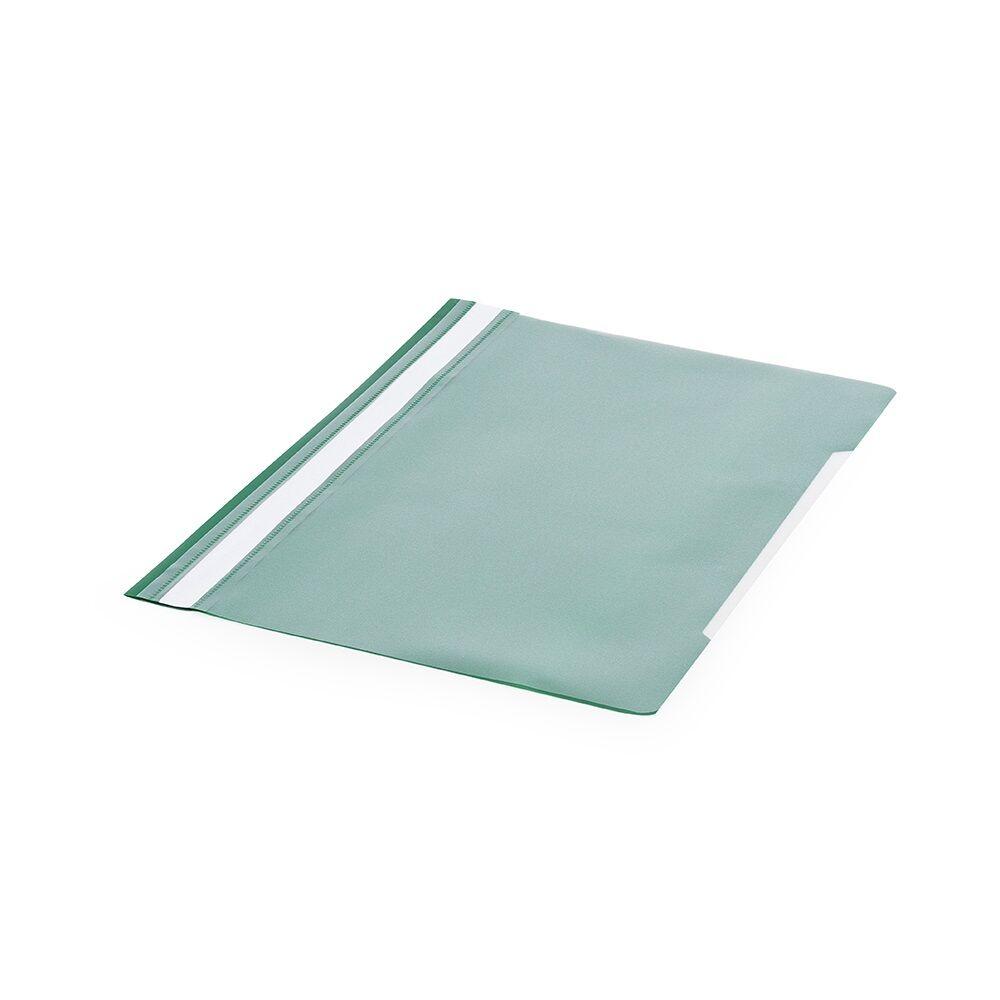 Gyorsfűző műanyag PP A4 zöld darabos